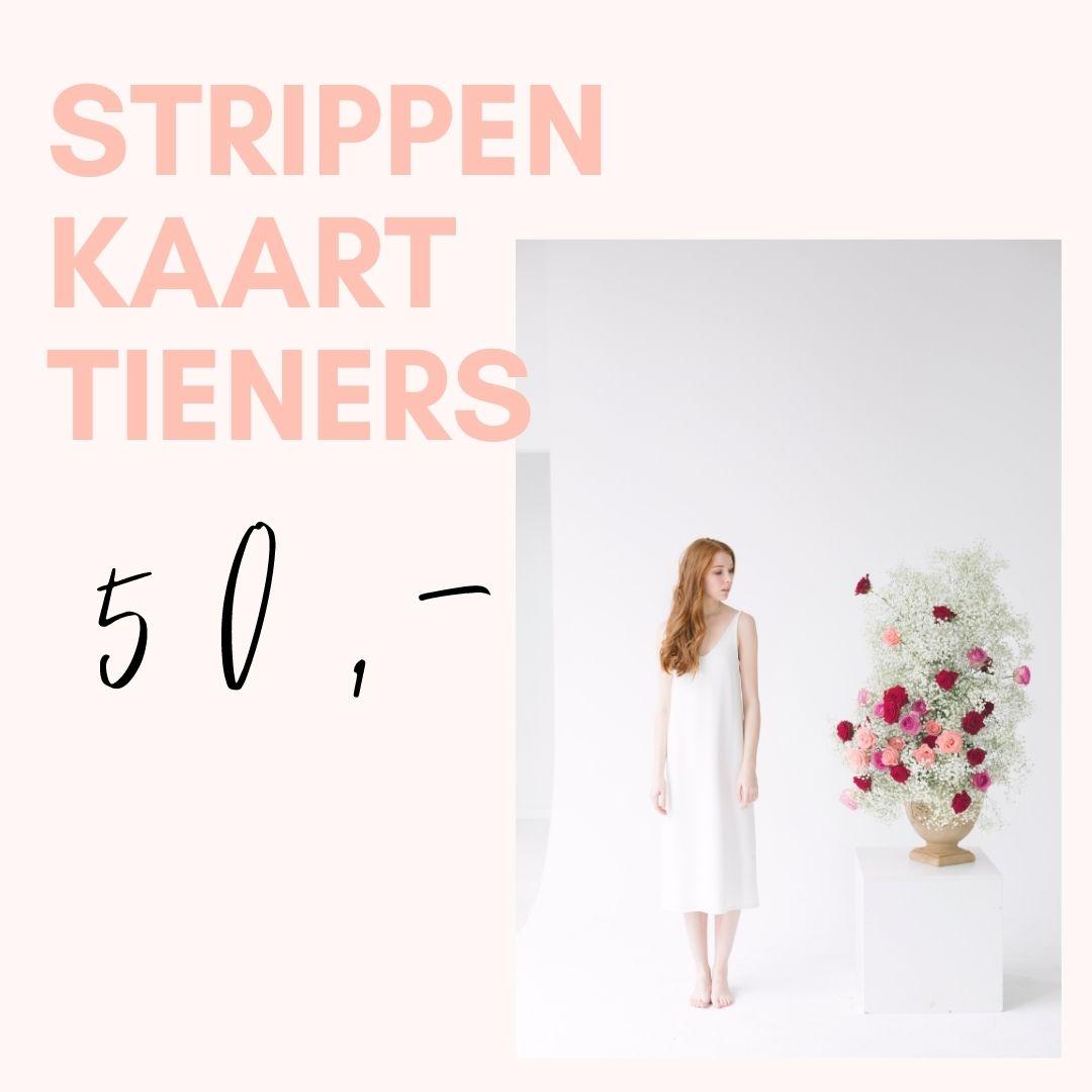 Strippenkaart tieners kledingbieb